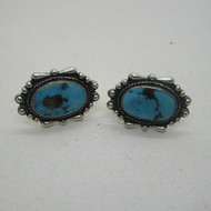 Sterling Silver Turquoise Screw Back Earrings
