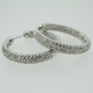14k White Gold Approx 1.0ct TW Diamond Hope Earrings