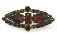 Victorian Gold Filled Red Bohemian Garnet Cluster Brooch Circa 1800'S