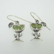 Sterling Silver Silpada Dangle Margarita Cactus Earrings