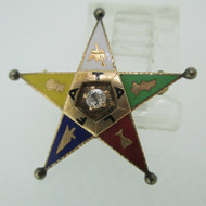 14k Yellow Gold Easter Star Pin with Diamond Accent