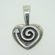 Sterling Silver Silpada Swirl Heart Pendant