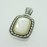 Sterling Silver & 14K Mother of Pearl Pendant