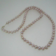 10k Yellow Gold Pink Pearl Necklace