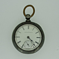 Antique 1883 Elgin National Watch Co. 18s 11j Coin Silver Pocket Watch Parts Steampunk (B3533)