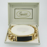 Speidel Gold Tone Identification ID Medical Bracelet 7 1/2 Inches