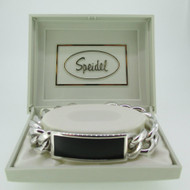Speidel Silver Tone Identification ID Medical Bracelet 7 1/2 Inches