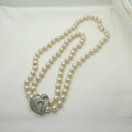 Vintage Vendome Versatile Single or Double Strand Faux Pearl Necklace