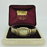 Vintage Bulova M4 11AL 10k Rolled Gold Plated Watch Parts Steampunk with Original Box (B4455)
