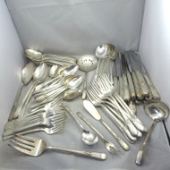 Craft Lot 1847 Rogers Bros Silver Plated Flatware 1930s Adoration Pattern 94 Pcs