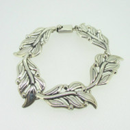 "Sterling Silver Esperanza Mexico Leaf Bracelet 8"""