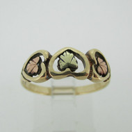10k Black Hills Gold 3 Leaf Ring Size 8 1/4