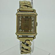 Vintage Driva Geneve Swiss B0T 17j Gold Tone Watch Parts Steampunk (B4975)