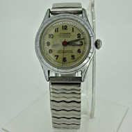Vintage Tugaris Swiss 17j Mechanical Silver Tone Watch Military Type Parts Steampunk (B4986)