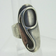 Sterling Silver Signet Initial Monogram P Ring Size 6