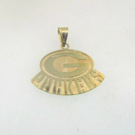 14k Yellow Gold TM NFLP 96 Green Bay Packers Pendant