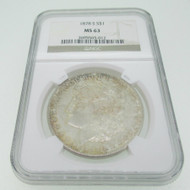 1878 S Morgan Dollar NGC MS63 600587