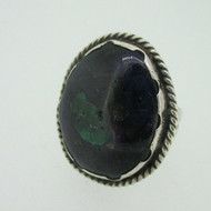 Sterling Silver Azurite Blue Green Ring Size 8