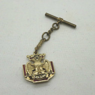 Vintage Gold Enameled Scottish Rite Masonic Convertible Watch Fob Hard to Find