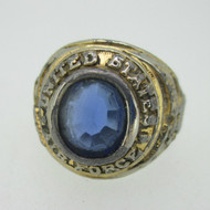 Gold Tone United States Air Force Military Ring Size 11