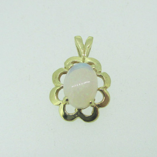 14k Yellow Gold Natural Opal Pendant