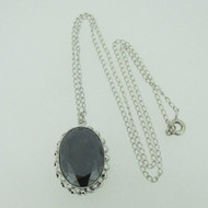 Sterling Silver Vintage Style Hematite Necklace