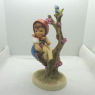 Vintage Goebel M. I. Hummel Porcelain Apple Tree Girl Figurine West Germany