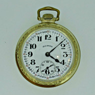 Antique 1928 Illinois Bunn Special 60 Hour Model 14 16s 21J 10k Gold Filled Pocket Watch (B5484)