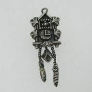 Sterling Silver Movable German Cuckoo Clock Charm Pendant