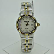 Raymond Weil Parsifal Geneve 9440 Mother of Pearl Dial Stainless Steel and 18k Ladies Quartz Watch (B5488)