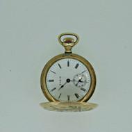 Antique 1911 Elgin Grade 320 Model 2 0s 7J Gold Filled Pocket Watch Parts (B5496)