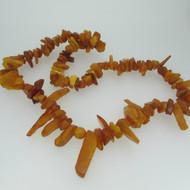 Vintage Honey Amber Baltic Necklace Cognac Nuggets