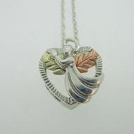 Sterling Silver & 12K Black Hills Gold Coleman Co Angel Heart Necklace