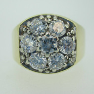 14k Yellow Gold Approx 2.50ct TW Round Brilliant Cut Diamond Men's Band Ring Size 12 1/4