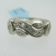 Vintage 14k Yellow Gold Diamond Band Ring Size 6 1/2
