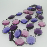Joan Rivers Purple Round Stone Fashion Necklace
