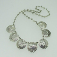 Sterling Silver Egyptian Scarab Pharaoh Necklace