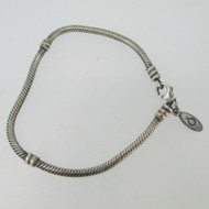 Sterling Silver Pandora Charm Bracelet 8 inches