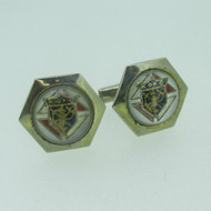 Silver Tone Knights of Columbus Cuff Links