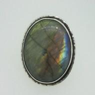 Sterling Silver Large Labradorite Ring Size 7