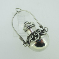 Sterling Silver Perfume Essential Oil Holder Pendant with Rhodalite Garnet