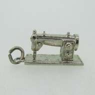 Wells Sterling Silver Sewing Machine Pendant or Charm