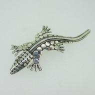 Sterling Silver Southwest Alligator Pin Brooch