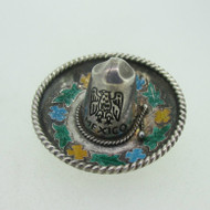 Sterling Silver Mexico Sombrero Hat Pin Brooch