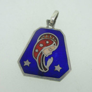 Sterling Silver Southwest Blue Sodalite Inlay Pendant