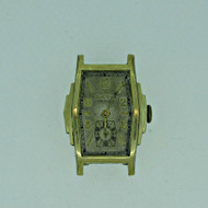 Vintage Bulova 10 AE 17J 10k Rolled Gold Plated Watch Case Movement and Dial Parts Steampunk (B6374)