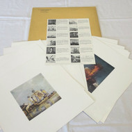 Set of 12 Full Color US Naval Institute Magazine 1952 Cover Art Pictures Prints