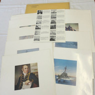 US Naval Institute Magazine 1954 Cover Art Pictures Prints Set of 12 Full Color