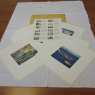 US Naval Institute Magazine Set of 12 Full Color Cover Art Pictures Prints 1958