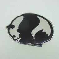 Sterling Silver Panda Bear Mexico Pin Brooch